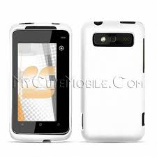 6985 verizon White Rubberized Case Trophy Cover Faceplate Htc 7 8qwEIU