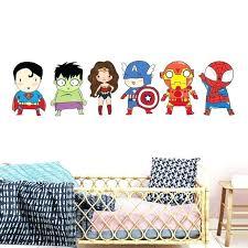 superhero wall stickers kids boy bedroom decor batman superman vinyl super hero art decals for room batman wall superhero
