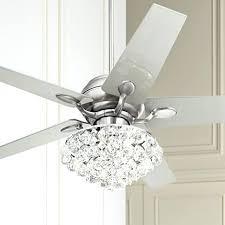 white ceiling fan with chandelier. ceiling fan: white fan with crystal chandelier attached i