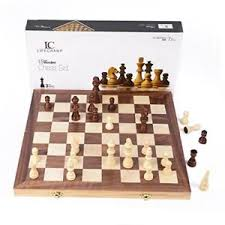 Image Is Loading LifeChamp Wooden Chess Set For Adults And Kids