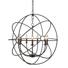 infinity 7 light rustic bronze mini chandelier