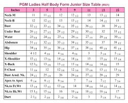 junior size junior dress form with hip industry pro 601 pgmdressform com