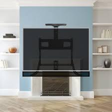 mantel tv wall mount fireplace and soundbar mount