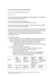 Introduction To Psychology Essay Free Sample Of Test Bank For An Introduction To Social