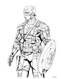 Captain America Coloring Pages Civil War Movie Coloringstar