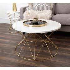 Received many very good recommendations from customers for functionality and neutral design. Kate And Laurel Mendel Round Metal Coffee Table Overstock 17783225 Grey