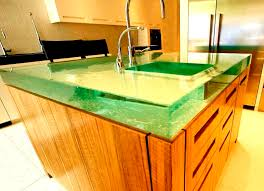 glass countertop kitchen crystal bloc