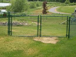 chain link fence double gate. Green Vinyl Coated Chain Link Fence W/ Double Door Gate Chain Link Fence Double Gate C