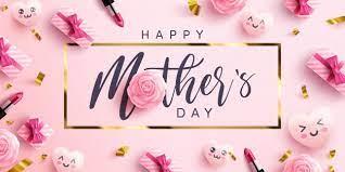 Festa della mamma poster o banner con cuori dolci e confezione regalo rosa  su sfondo rosa