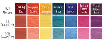 Orange Hair Colour Chart Blossom Italy Hair And Beauty Ltd