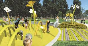 a rendering of the sound garden to be featured at houghton park in north long beach courtesy of city fabrick