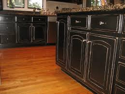 painting kitchen cabinets black distressed