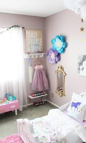 Bedroom design for young girls Featuring Unicorn Pillow And Dressup Area With Gold Mirror This Bedroom Is Truly Every Little Princesss Dream Shutterfly 75 Delightful Girls Bedroom Ideas Shutterfly