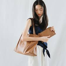 marry lightweight women cow leather tote bag light brown designer thesis crisis i