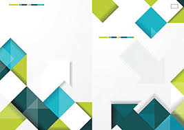 geometric business cover design background front cover enterprise file background image