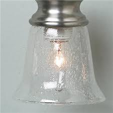 clear seeded bath pendant glass shade