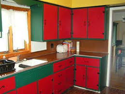 Red Kitchen Paint Painting Kitchen Cabinets Red And White Kitchen Easy Painted