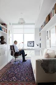 small office designs. the persian rug looks so lush in an all white office space by toronto interior designer jill greaves desire to inspire small designs s