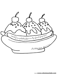 Small Picture Awesome Banana Split Coloring Page 69 In Free Colouring Pages With