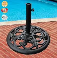 patio umbrella round base stand heavy