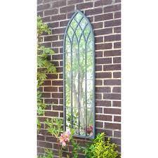 metal gothic glass garden mirror 140