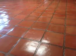 stained mexican saltillo tile