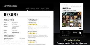 Careera Next Themeforest Resume Portfolio Html Template Uxfree Com