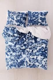 denim tie dye navy duvet cover