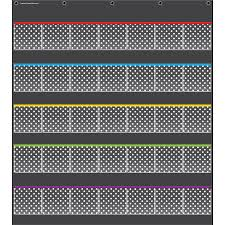 Black Polka Dots Storage Pocket Chart Beckers School Supplies
