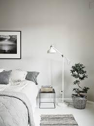 floor lamps in bedroom.  Floor Bedroom Pale Grey Bed Linen White Floor Floor Lamp Black Square  Bedside Table To Floor Lamps In Bedroom A