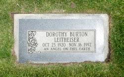 """Dorothy """"Dot"""" Burton Leitheiser (1920-1992) - Find A Grave Memorial"""