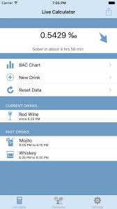 Bac Calculator Chart Bac Calc Live Blood Alcohol Content Calculator By