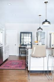 get the look of a vibrant vintage rug in the kitchen without the tag