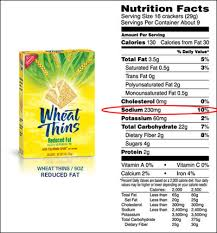 reduced fat wheat thin facts
