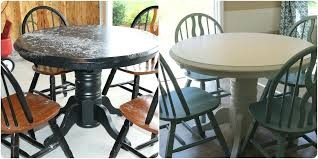 painted dining table before and after refinishing furniture with paint before and after refinished table with