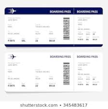 Ticket Illustration Royalty Pass Shutterstock Traveling Boarding Airline Free 345483617 By Stock Of