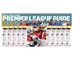 Premier League Wall Chart Receive A Free Double Sided Premier League Wallchart Free