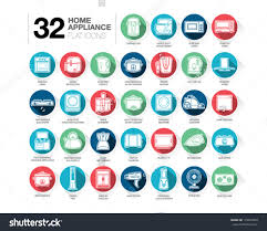 Domestic Kitchen Appliances Set Home Appliance Icons Including Kitchen Stock Vector 179624693