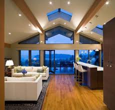 vaulted ceiling lighting modern living room lighting. 16 Ways To Add Decor Your Vaulted Ceilings Homesthetics (7) Ceiling Lighting Modern Living Room