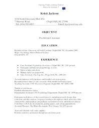 Psychology Sample Resumes Assistant Psychologist Sample Resume Podarki Co