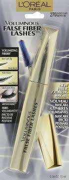 amazon l oreal paris voluminous false fiber lashes mascara 270 blackest black 0 34 fluid ounce loreal beauty