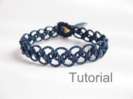 Macrame Bracelet Patterns Best Tutorial Macrame Bracelet Pattern Pdf Easy Navy Blue Knotted Step By
