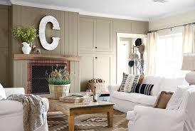 farmhouse coffee table and white sofa
