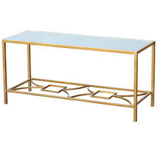 gin shu art deco style gold coffee table with glass top