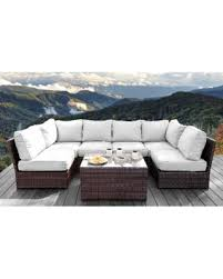 brown set patio source outdoor. Living Source International All Weather Resort Grade Outdoor Furniture Patio Sofa Set With Back Cushions - Brown E