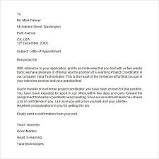 Sample Appointment Letter Download Free Documents Pdf Word