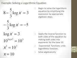 sli de 8 example solving a logarithmic equation 1 begin to solve the logarithmic