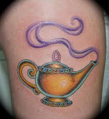 Aladdin Magic Lamp Tattoo Google Search Tattos Genie Tattoo
