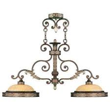 providence 2 light palatial bronze with gilded accents incandescent island ceiling pendant