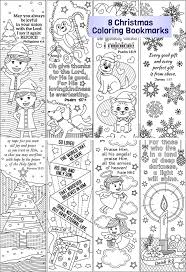 8 Christmas Coloring Bookmarks Plus 4